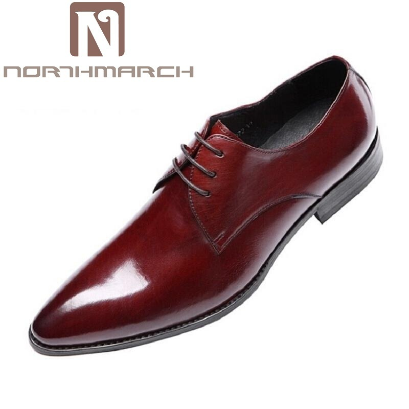 NORTHMARCH Fashion Leather Men Dress Shoes Brand Luxury Men'S Business Casual Classic Gentleman Shoes Man Shoes For Wedding fashion men shoes genuine leather men casual shoes brand luxury men s business classic gentleman shoes handmade high quality