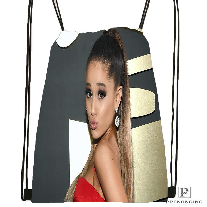 Custom Ariana Grande 1 Drawstring Backpack Bag for Man Woman Cute Daypack Kids Satchel Black Back