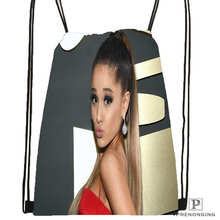 Custom Ariana-Grande@1 Drawstring Backpack Bag for Man Woman Cute Daypack Kids Satchel (Black Back) 31x40cm#20180611-03-157