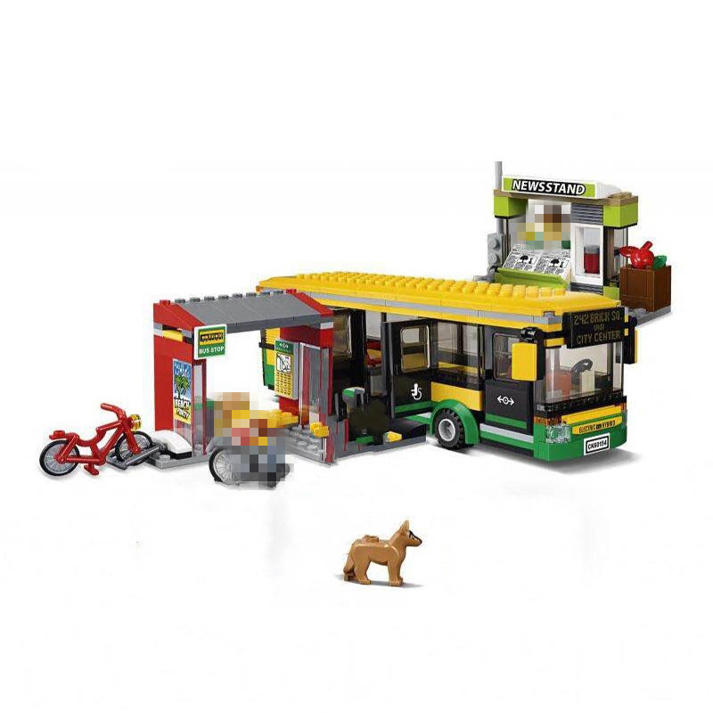LEPIN City Town Bus Station Building Blocks Sets Kits Bricks Model Kids Classic Toys Marvel Compatible Legoe lepin 15003 2859pcs city creator town hall sets model building kits set blocks toys for children compatible with 10024