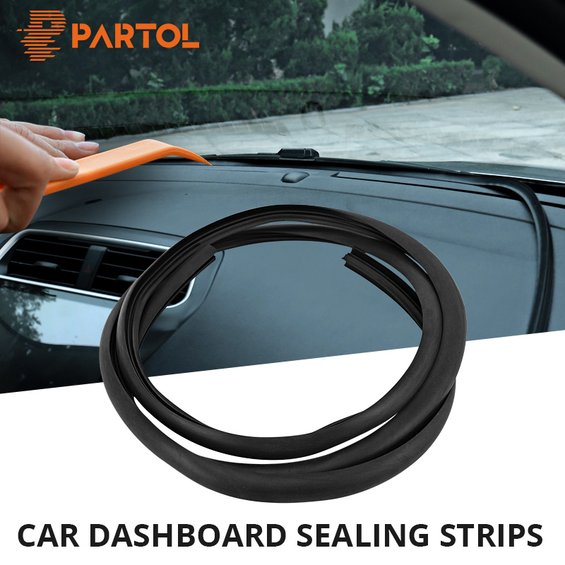 Partol 160CM Car Seal Strip Door Dashboard Waterproof Trim Sound Insulation Soundproof Weatherstrip EPDM Auto Rubber Seal Strips цена