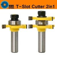 舌溝ルータービットセットアセンブリ2in1超硬t t-スロットt字型3歯木材フライスカッター木工ツールすべてインチサイ