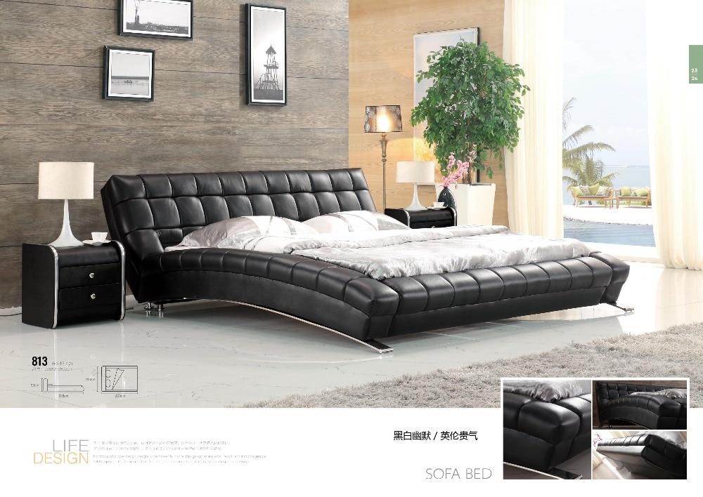 American style moderne mode schlafzimmer sätze weichen leder bett ...