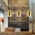 Скандинавский Ретро латунный подвесной светильник  креативная прикроватная Светодиодная лампа для спальни  ресторана  бара  коридора  подв...