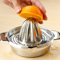 Stainless steel manual lemon juice squeezer device baby fruit grinding broken fruit vegetable tools for kitchen supplies