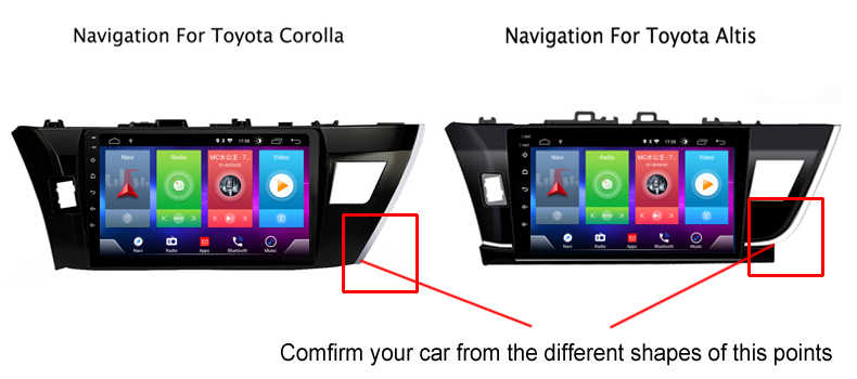 Smart Full touch Android 8.1 car gps navigation player for TOYOTA corolla 2014 stereo radio bluetooth multimedia DSP head unit