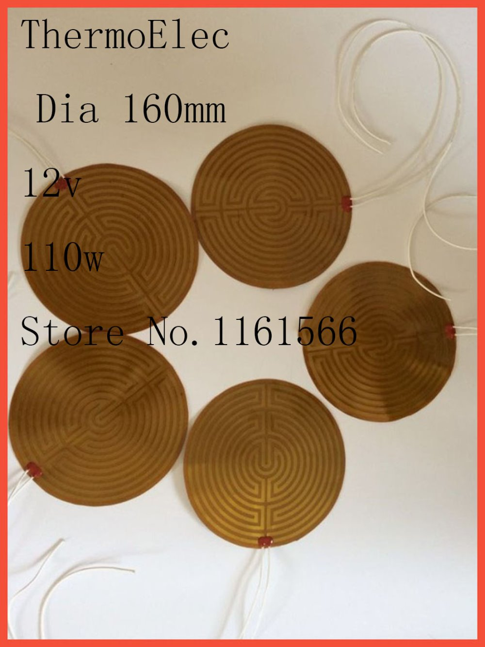 Dia 160mm 12v 110w element heating PI film polyimide heater heat rubber electric flexible heated bad 3D printing oil pan heating dia 400mm 900w 120v 3m ntc 100k round tank silicone heater huge 3d printer build plate heated bed electric heating plate element