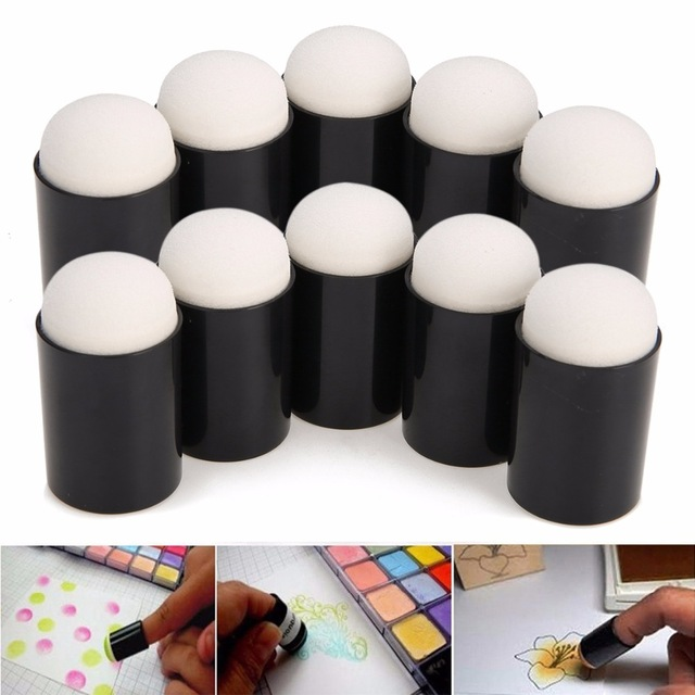3/5/10pcs Finger Sponge Case Daubers Foam For Applying Painting Ink Stamping Chalk Mayitr Reborn DIY Craft Art Tool 18* 33mm