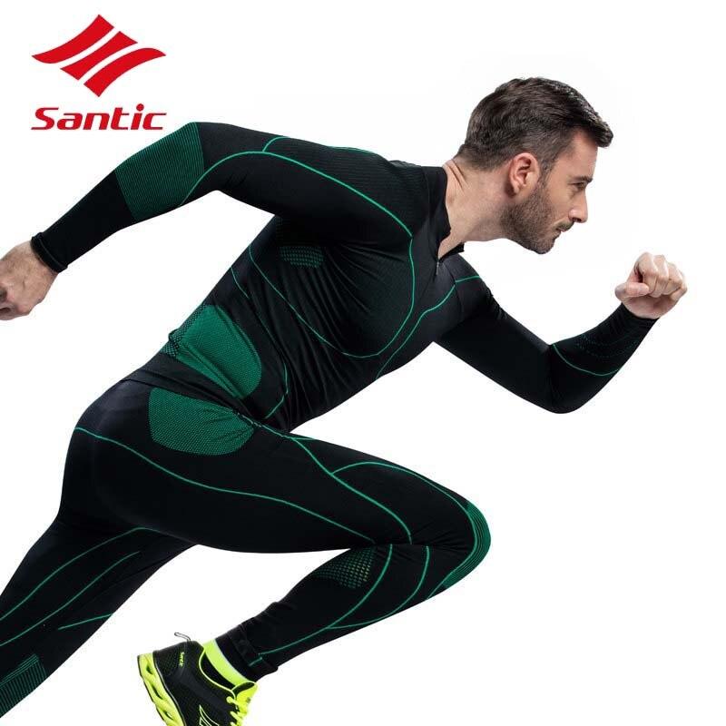 Сантич мужчины Велоспорт Джерси установить с 2018 тепловой спорт на открытом воздухе Профессиональный MTB Горный Дорожный велосипед одежда Велоспорт одежда нижнее белье