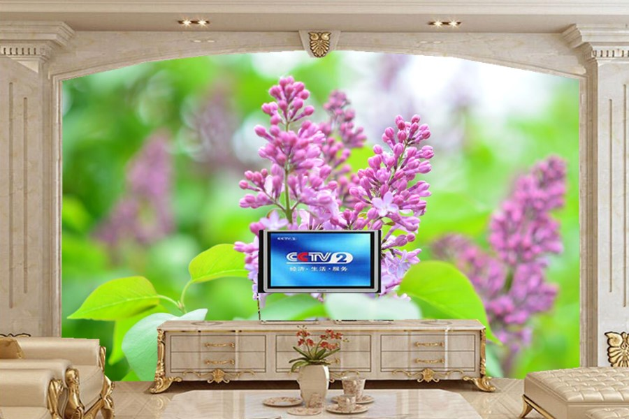 Flowering trees Lilac Flowers wallpapers papel de parede,living room TV sofa wall bedroom 3d wall murals wallpaper coloring of trees