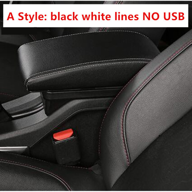 KYLN Armrests Box for Citroen C3 Picasso Car Center Console Storage Box Accessories With Usb Interface Leather Style