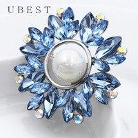 UBEST 5 Color Pearl Brooch Pin Swarovski Pashmina Hijab Pin Scarf Clip Crystal Garment Flower Brooch