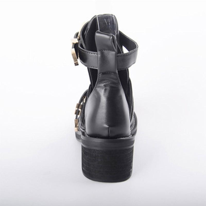 Donne Fibbia Il Marca Terra Occidentale Scarpe Stile Stella Autunno Signora Nero Calzature Chaussure Modo 2018 Degli Casual Della Nuove Traspirante Punk Appartamenti Di w8qRxvSx1