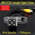 Câmera traseira Do Carro Câmera de Visão Traseira Com 4 LED HD Câmera CCD Para Volvo S40 V40 V50 1995-2012/XC60 2008-11/XC90 03-11/S80 98-10/C30