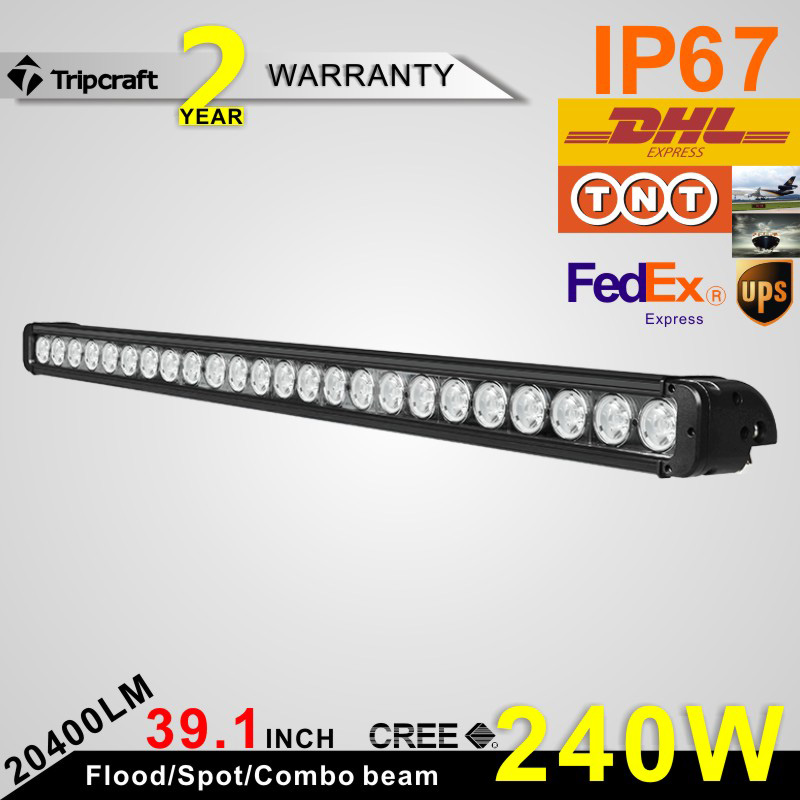 Wide Voltage range SINGLE Row LED light bar 240W high lumen Extraljus 39.1