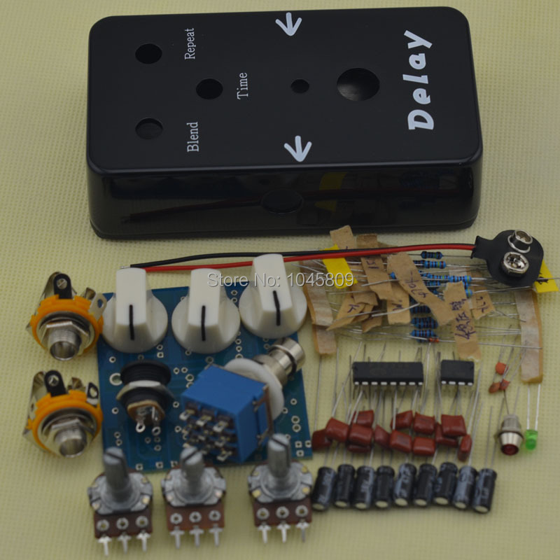 diy delay guitar effect pedal kits with 1590b and icpt2399 tl072cp pedal kits free shipping in. Black Bedroom Furniture Sets. Home Design Ideas