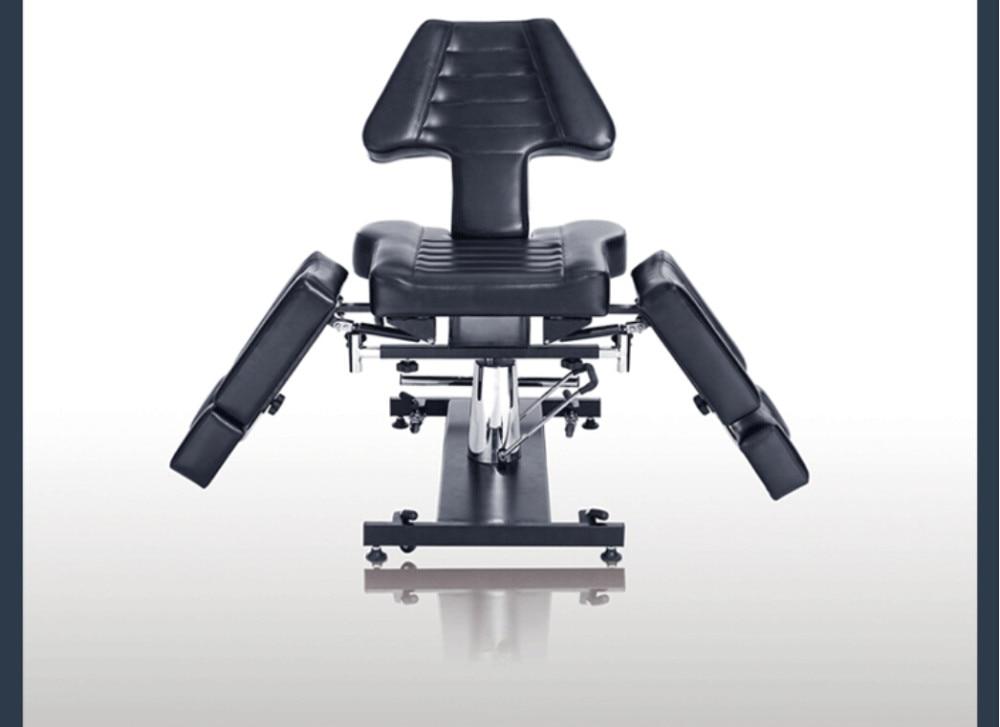 Multifunctionele beauty bed tattoo stoel zwart tattoo stoel vouwen