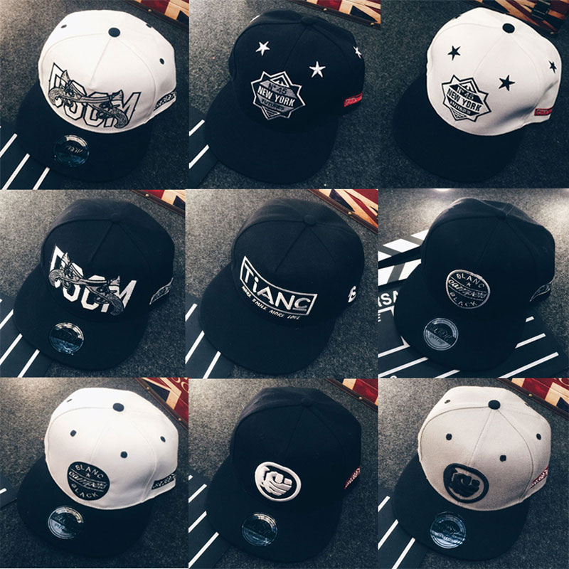 16023e7386a 2016 New Black White Snapback Hats Men Hiphop Cap Baseball Caps New York  Gun Fist Pattern Embroidery Hip Hop Hat For Men Women-in Baseball Caps from  Men s ...