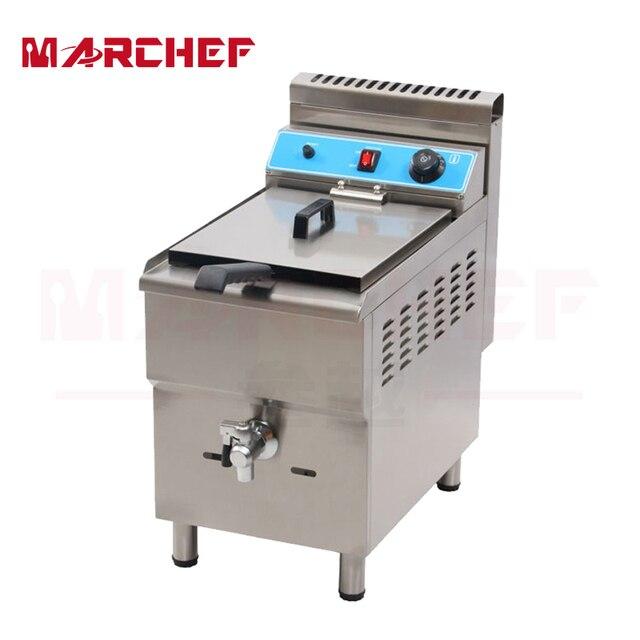 Marchef 17l Satu Tangki Profesional Peralatan Dapur Gas Industri Deep Bahasa Perancis Fryer