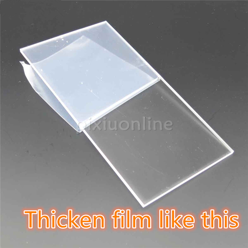1pc J141 Acrylic Board 12*6cm Full Thickness 2mm Cover Thicken film High Transparency Plastic Board for DIY used Free Shipping j142 acrylic board 30 20cm full thickness 2mm cover thicken film high transparency plastic board for diy used free shipping