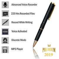 Professional Voice Recorder Pen Portable HD Recording Pen Audio Recorder Dictaphone Noise Reduction Mini Justice Tool V6