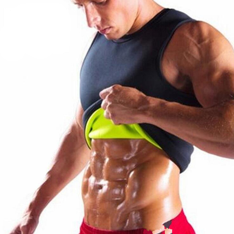 Men's Sauna Vest Ultra Sweat Shapers Shirt Man Black Waist Cincher Men's Shapers Slimming Waist Trainer Corsets Shapewear