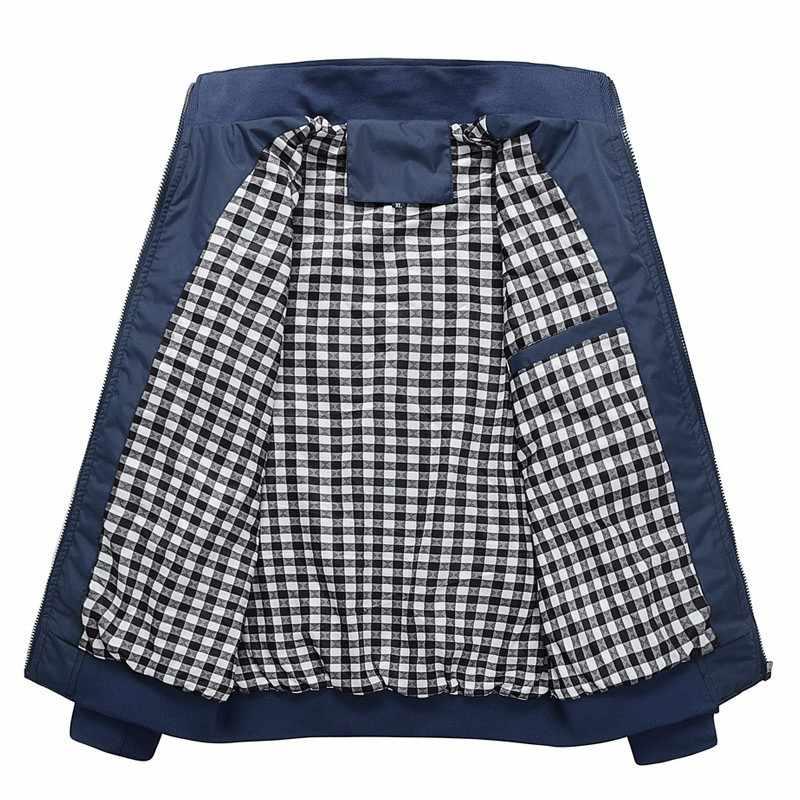 Chaqueta Casual sólida de calidad para hombre, ropa de primavera y otoño, ropa deportiva mandarín para hombre, chaquetas para hombre, M-5XL 6XL 7XL