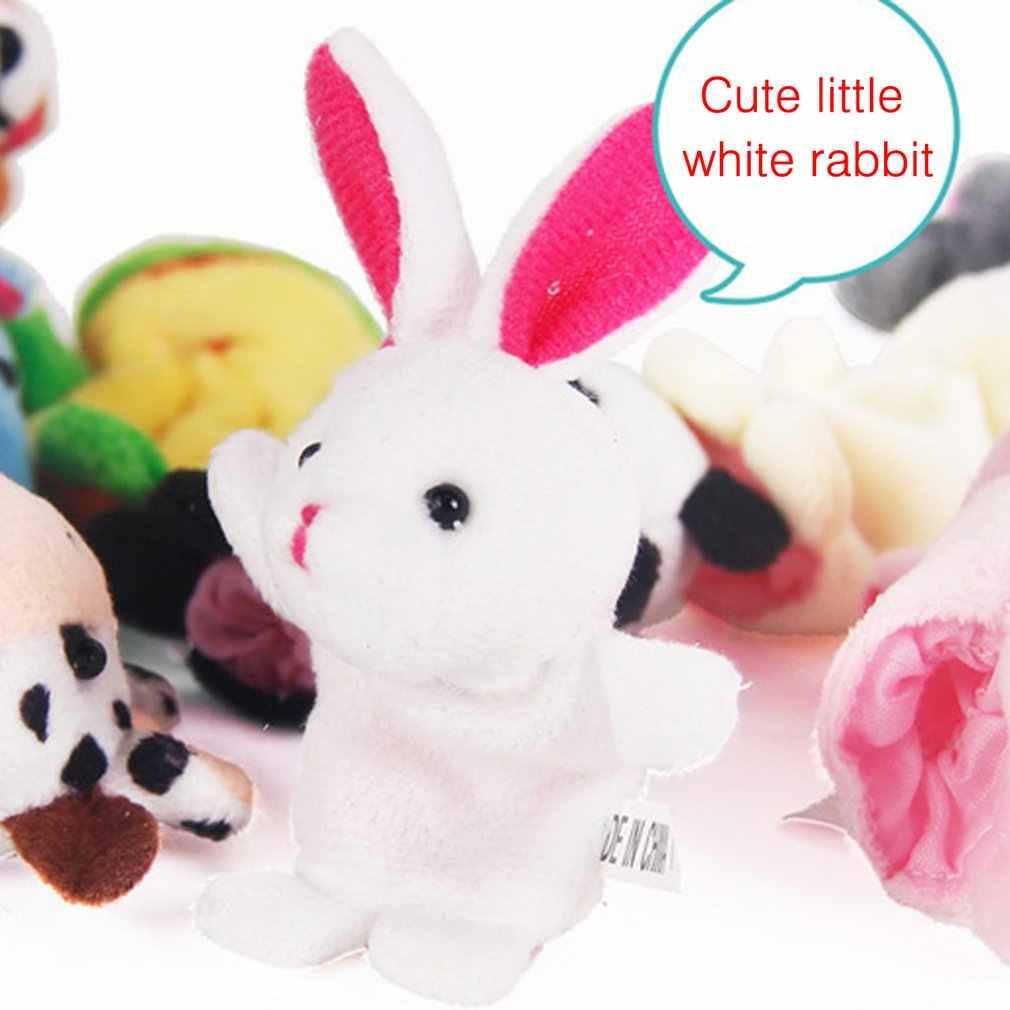 1 adet eğlenceli bebek peluş oyuncak hayvan parmak kuklaları çift katmanlı ayaklı hikaye anlatma sahne bebek kukla çocuk oyuncakları çocuk hediye