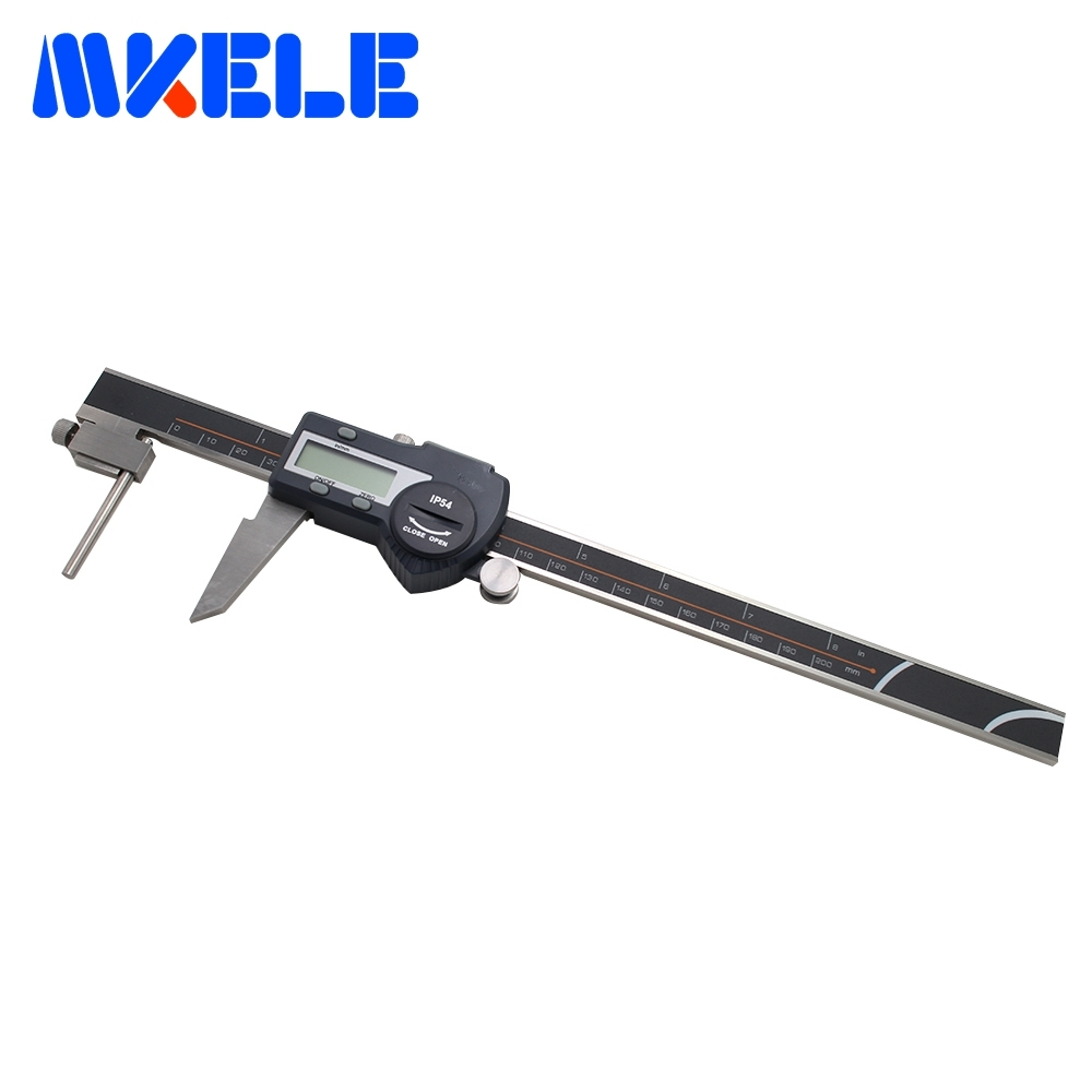 цена на 0-200mm Tube Thickness Digital Vernier Caliper Electronic Digital Thickness Caliper High Accuracy IP54 Waterproof
