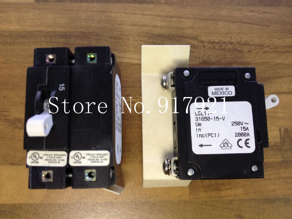 [ZOB] The United States AIRPAX LEL11-31650-15-V equipment Ebers breaker 2P15A 250V switch device  --5pcs/lot