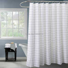 hot deal buy fabric polyester classic black white plaid waterproof shower curtains thicken fabric bathroom shower curtains
