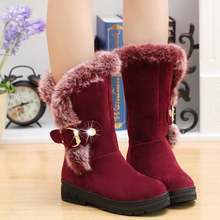 2016 winter Women snow boots Europe and America round toe boots for women Shoes warm platform boot female botas new  DT630