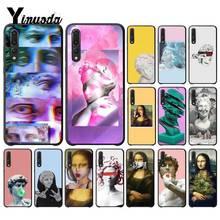 Yinuoda Art Mona Lisa David lines Cover Black  Phone Case for Huawei P9 P10 Plus Mate9 10 Mate10 Lite P20 Pro Honor10 View10