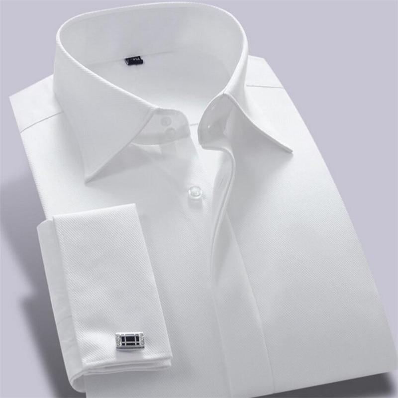 CARFANTE Herren Business Hemd Marke Langarm Twill Französisch - Herrenbekleidung - Foto 5