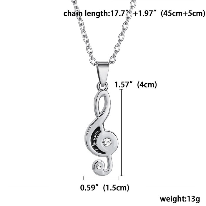0aeb2a4407 2 pcs/pair Couple Necklace For Lover Girlfriend Gift Set Musical note  Valentine's Day Necklace For Women Jewelry Paired Pendants on  Aliexpress.com | Alibaba ...