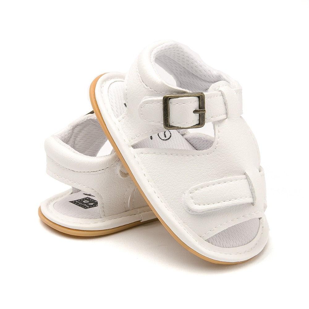 New arrival Jeans Baby sandals Cool Summer Boys girls Pu leather infant sandals Baby moccasins Hard sole anti-slip baby shoes