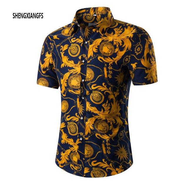 Vetement Homme dos homens Camisas de Vestido de Manga Curta Slim Fit Camisa Camisa Masculina Turn Down Collar Único Botão Camisas 4XL 5XL