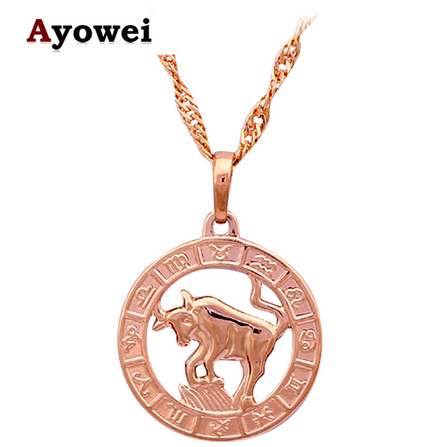 tone new constellation fashion plated gold design items taurus necklace party necklaces item special jewelry arival pendants