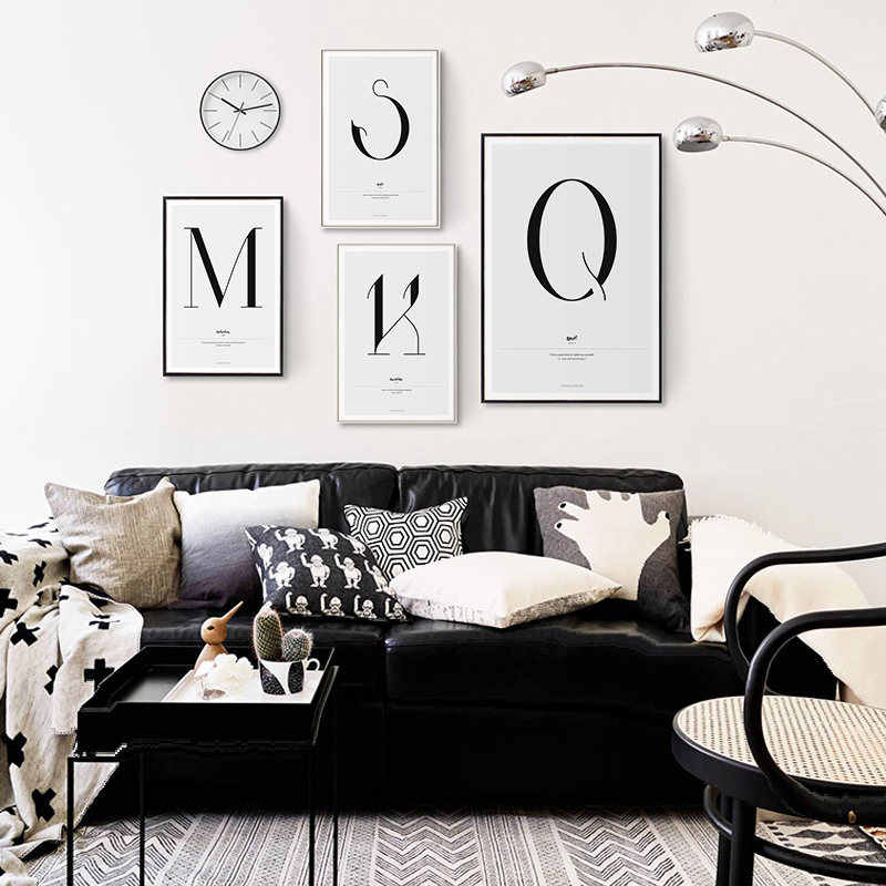 Quote Words Nordic Art Home Decor Nordic Canvas Painting Wall Art Kids Bedroom Posters and Prints for Living Room Wall Painting