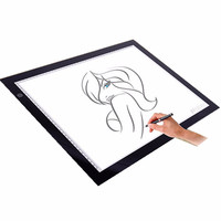 New A2 A3 Ultra thin Dimmable Brightness LED Painting Drawing Board Light Tablet Art Stencil Tracing Desk Animation Draw