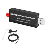Auto FM Tuner Vehicle Electronic Transmission USB Stick Adapter Broadcasting Antenna Practical DVD Car DAB Digital Radio
