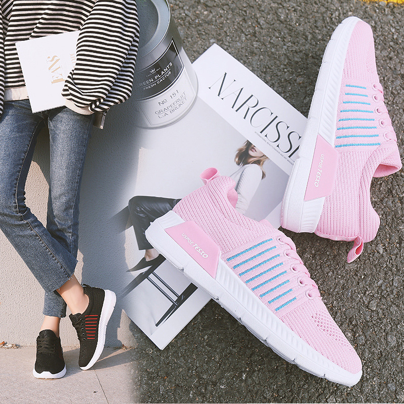 CBJSHO Women Pink Shoes 2018 Spring New Female Casual Shoes Fashion Sneakers Zapatillas Deportivas Mujer Black Pink Gray цены онлайн