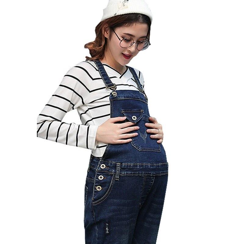 e14c1d44e6f5 Overalls Braced Jumpsuits For Pregnant Women Denim Maternity Jeans  Suspenders Pants Uniforms Pregnancy Prop Belly Rompers Autumn