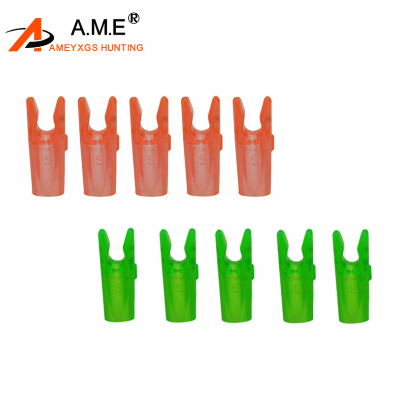 100pcs Arrow Nocks 6.2mm Plastic Arrow Tail Hunting Archery Compund Bow 3 Color