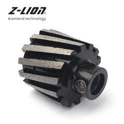 Z-LION 2 50mm Rotella Del Tamburo del Diamante Tolleranza Zero Legame Metallo Segmentato M14 O 5/8-11 Per La Lucidatura macinazione di Pietra Cemento Lavello