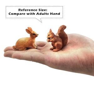 Image 5 - Natale piccola volpe coniglio scoiattolo foresta simulazione modello animale figura decorazione fai da te giocattolo educativo figurina regalo per bambini