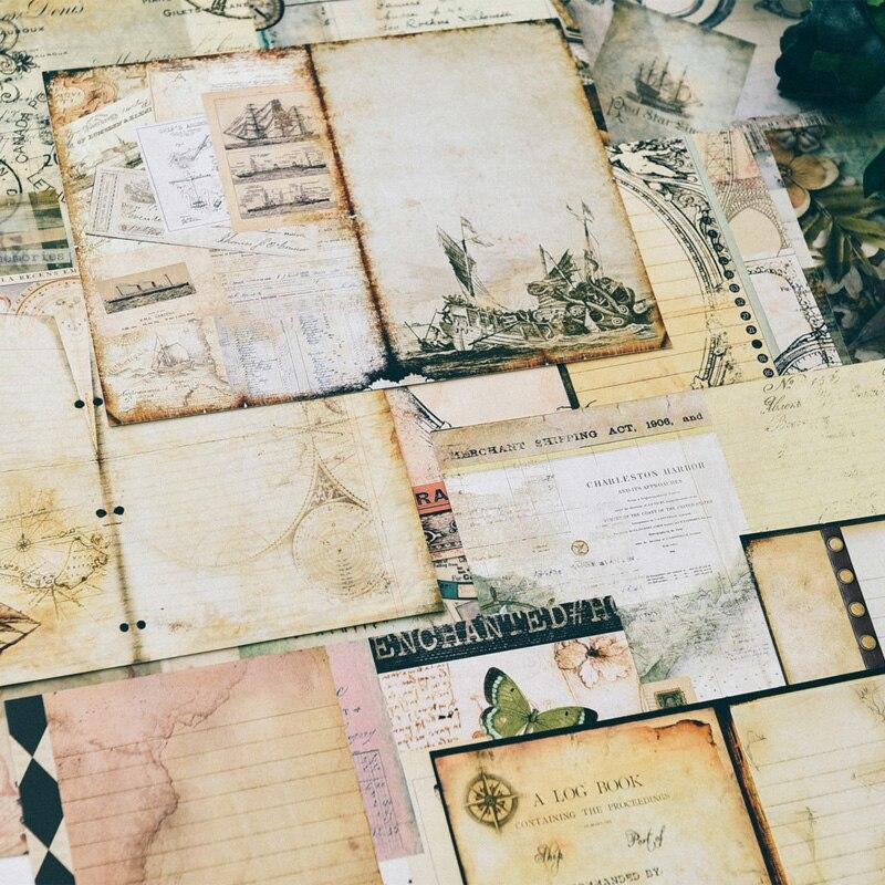 PJP ARTISANAT Vintage Monde Matériel Papier pour Scrapbooking BRICOLAGE Projets/Album Photo/Fabrication De Cartes Artisanat