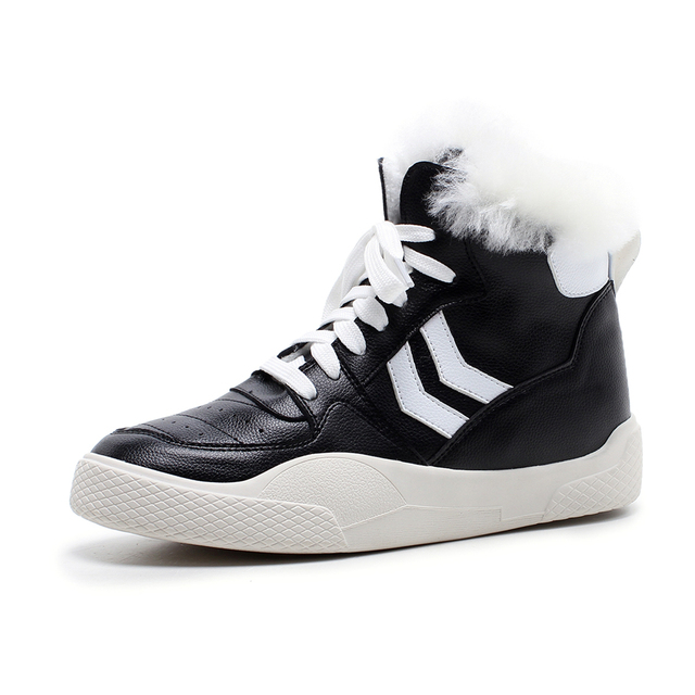 Stylesowner Women Winter Boots Non SlipSoleAnkle Snow Boots Women Platform Winter Shoes With Thick Fur Botas Mujer Sneaker Shoes