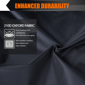 """Image 2 - MICTUNING Universal Motorcycle Cover 210D Oxford Tear Proof Anti thief Lock Hole for 104"""" XXL Motorcycles for Yamaha for Harley"""