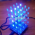 3D LED Light Squared White LED Blue Ray 4x4x4 LED Cube  DIY Kit 2*5*7MM with programmed IC